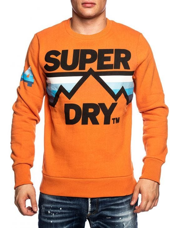 DOWNHILL RACER SWEATSHIRT IN ORANGE