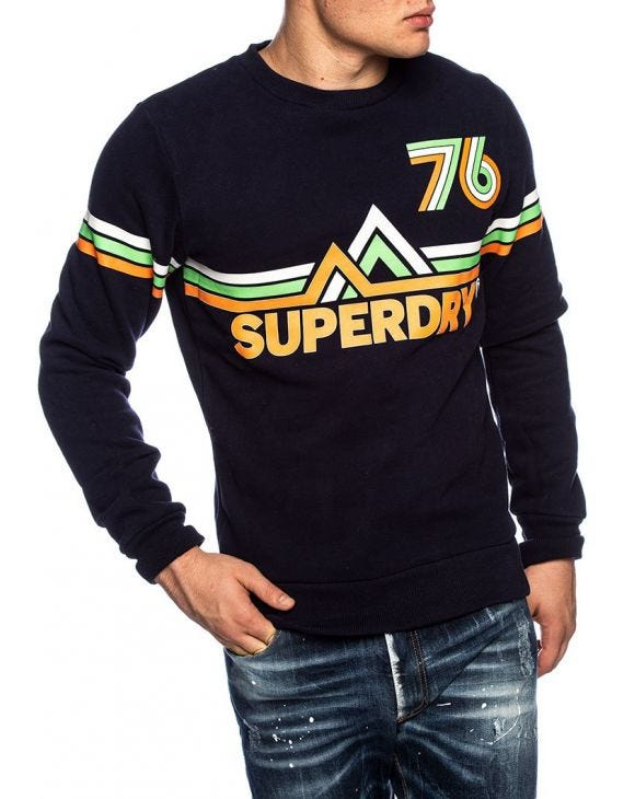 DOWNHILL RACER SWEATSHIRT IN BLAU