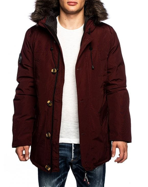ROOKIE DOWN PARKA IN BORDEAUX