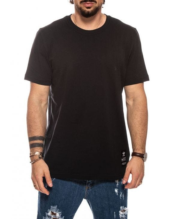 TREFOIL EVO PRINTED T-SHIRT IN BLACK