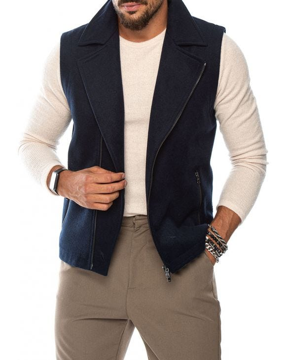 ZANE KIODO VEST IN BLUE