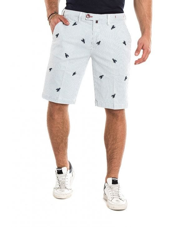 LOBSTER CHINO SHORTS IN LIGHT GREY