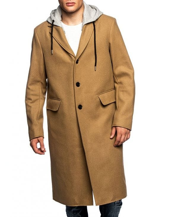 W-DEXTY COAT IN CAMEL AND GREY