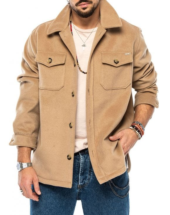GABE JACKET IN BEIGE