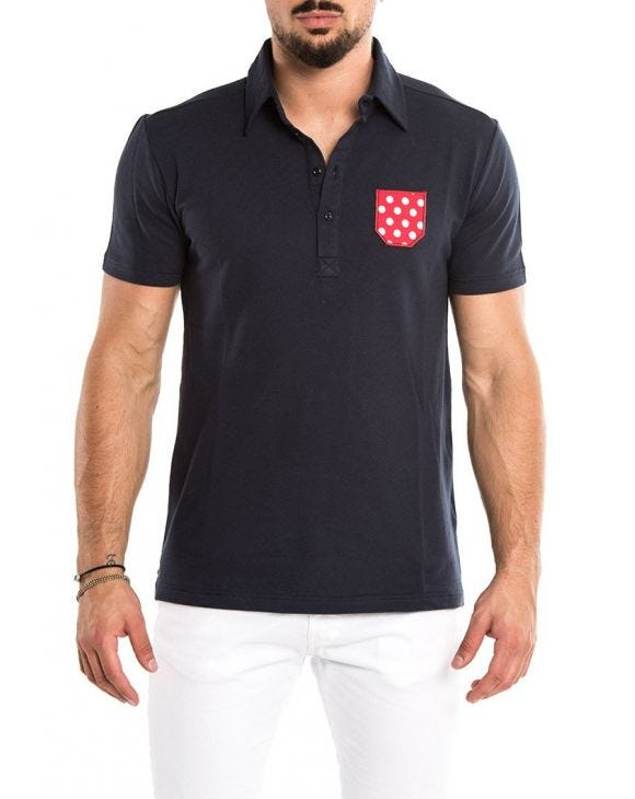 MICRO POCKET POLO EN AZUL