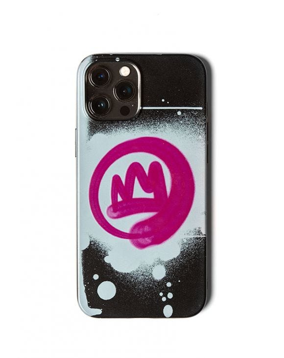 CROWN PHONE COVER IN BLACK AND WHITE