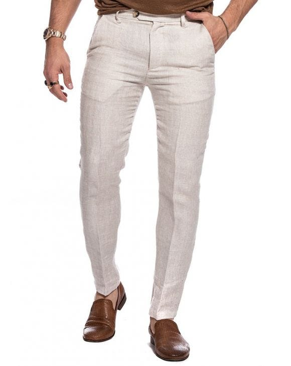 RUBEN FORMAL PANTS IN BEIGE