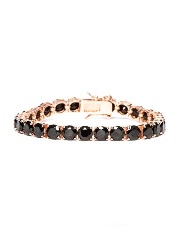 AMY BRACELET WITH BLACK ZIRCONS