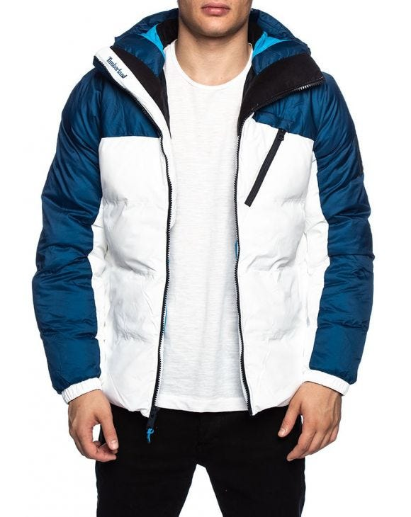 NEO SUMMIT DOWN JACKET IN WHITE AND BLUE