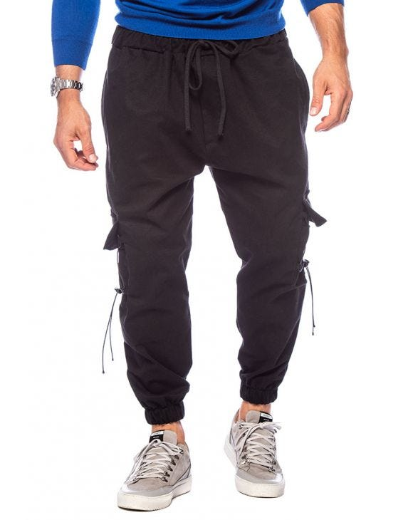BROCK CASUAL PANTS IN BLACK