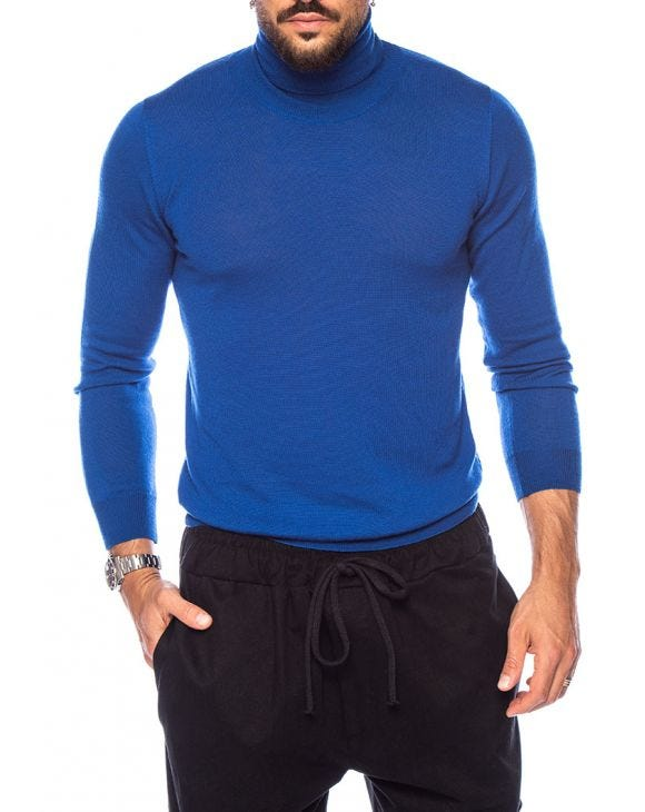 KOROS ROLLNECK SWEATER IN BLUE ROYAL