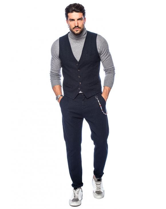 FRANK VEST SUIT IN BLUE
