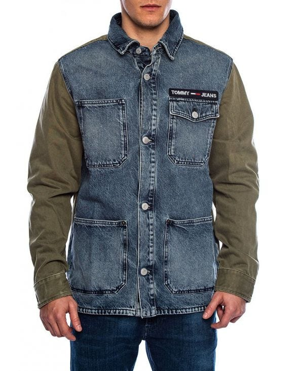 CARGO JACKET TJM NWCR IN BLUE JEANS AND GREEN