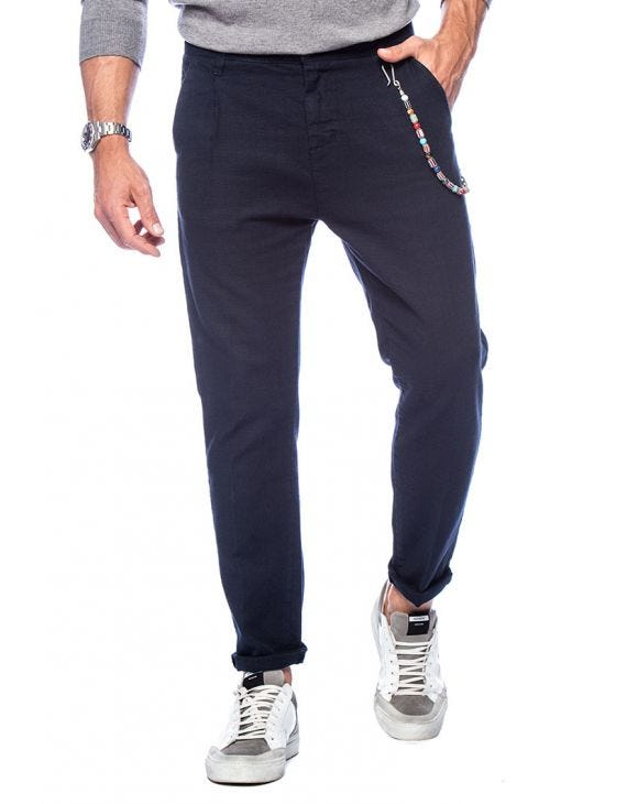 FRANK CASUAL PANTS IN BLUE
