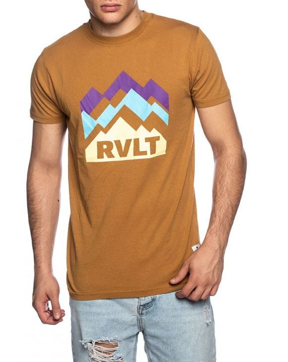 PRINTED T-SHIRT IN BROWN