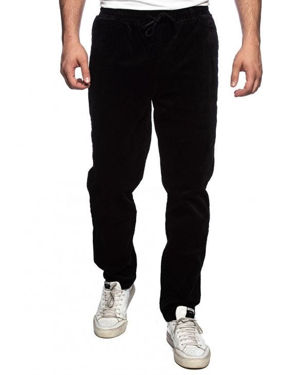 AKBOBBY CORDUROY PANTS IN BLACK