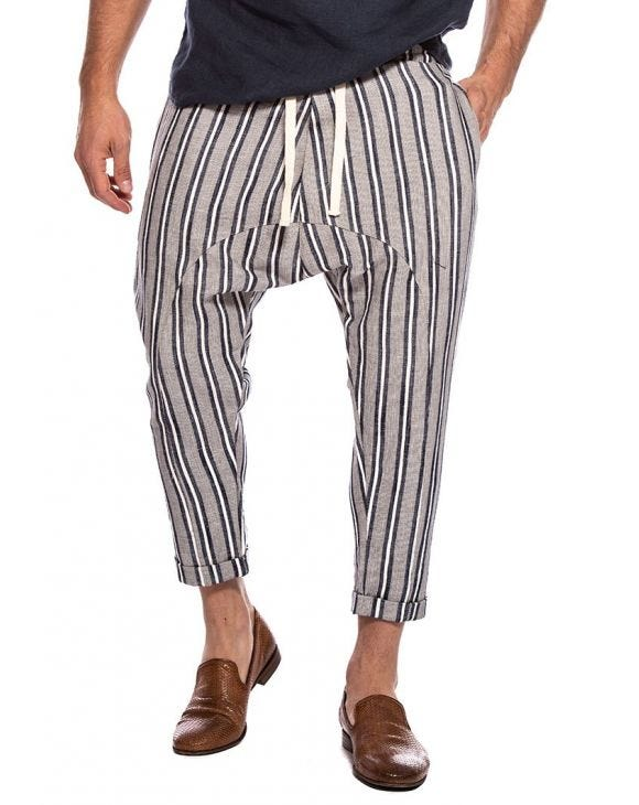 MANILA STRIPED PANTS IN BLUE