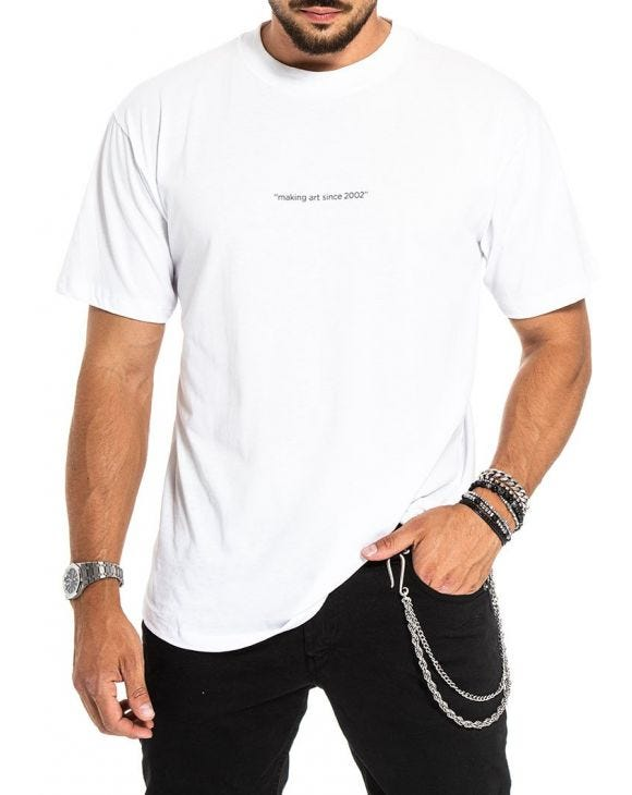 SPRAY T-SHIRT IN WHITE