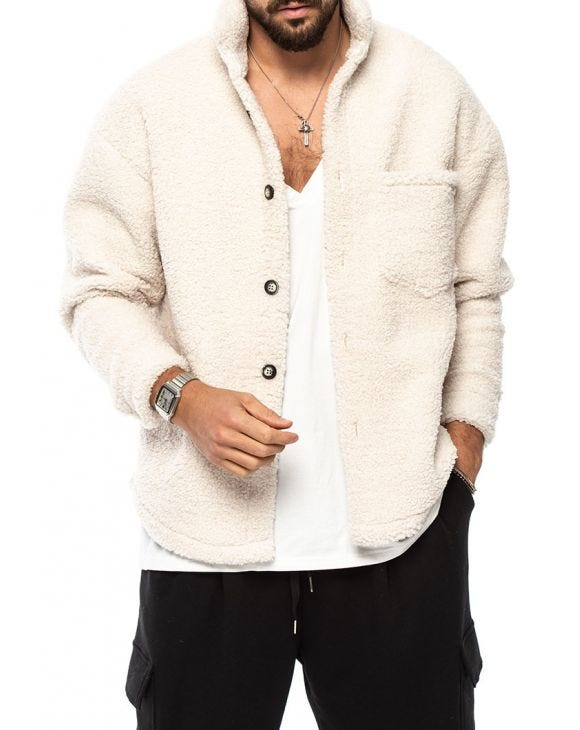 HARRY CHAQUETA SHEARLING EN CREMA