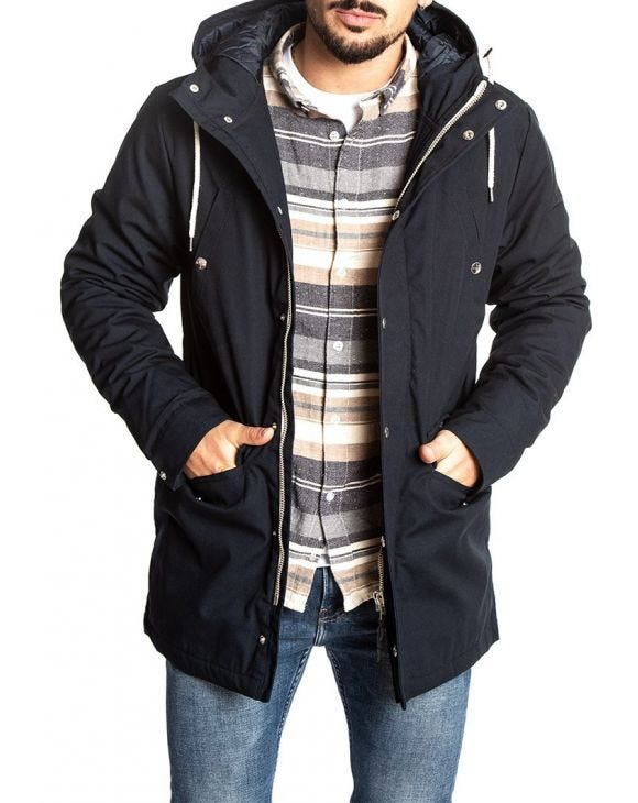LEIF JACKET IN BLU NAVY