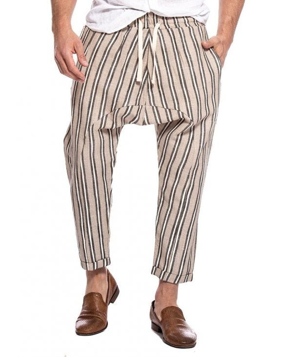 MANILA STRIPED PANTS IN BEIGE