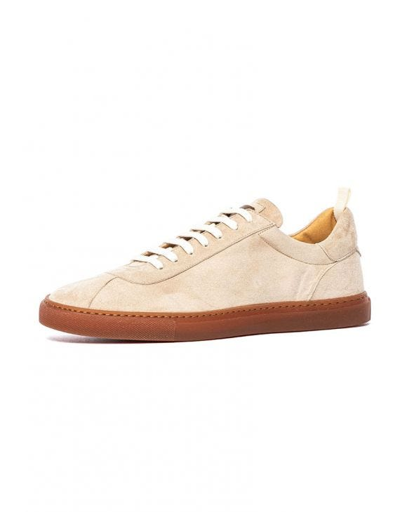 SUEDE SNEAKERS IN BEIGE
