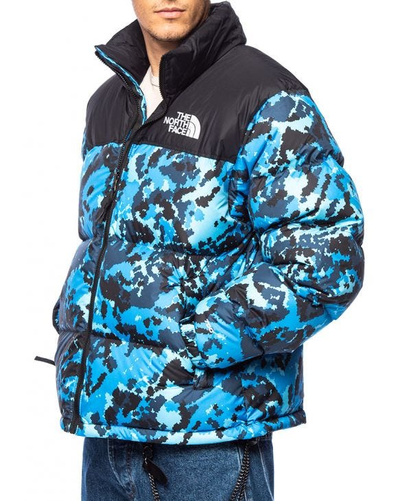 NUPTSE DOWN JACKET IN BLUE CAMOUFLAGE