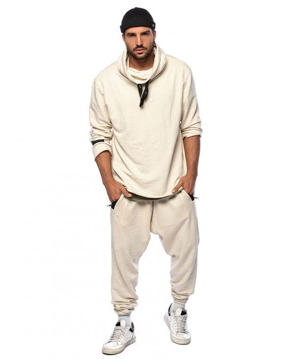 YAGU TRACKSUIT IN WHITE