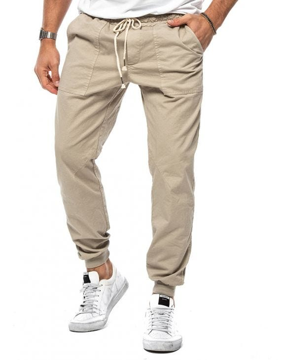 MATT CASUAL PANTS IN BEIGE
