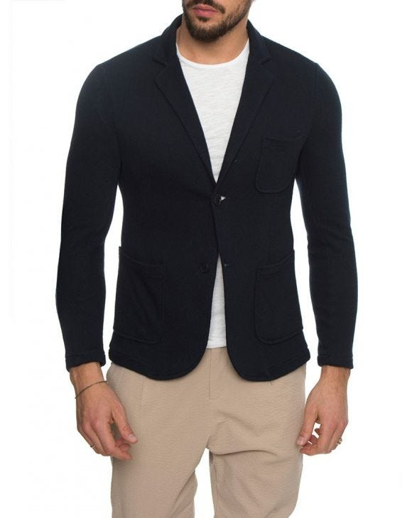 KARNAK COTTON BLAZER IN BLUE