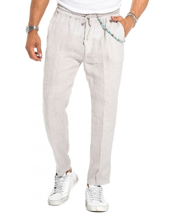 LIONEL CASUAL PANTS IN BEIGE