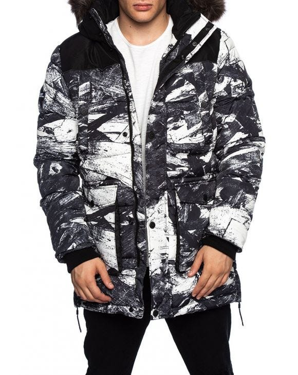 SD EXPLORER PARKA IN WHITE CAMO