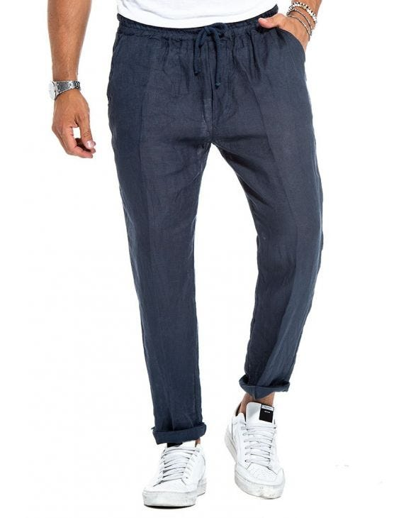 LIONEL CASUAL PANTS IN BLUE