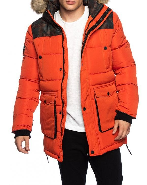 SD EXPLORER PARKA IN BOLD ORANGE