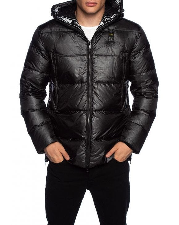 BLAUER DOWN JACKET IN BLACK