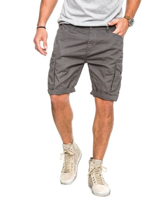 NECKER GESTREIFTE SHORTS IN GRAU