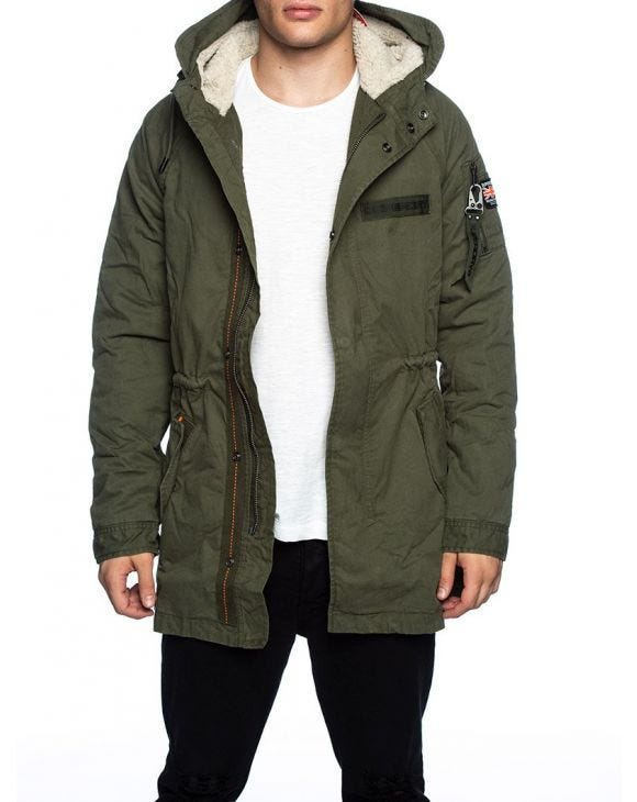 WINTER AVIATOR PARKA IN DEEP GREEN
