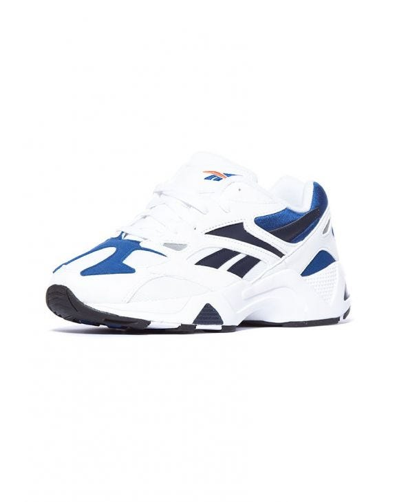 AZTREK 96 SNEAKERS IN WHITE AND BLUE