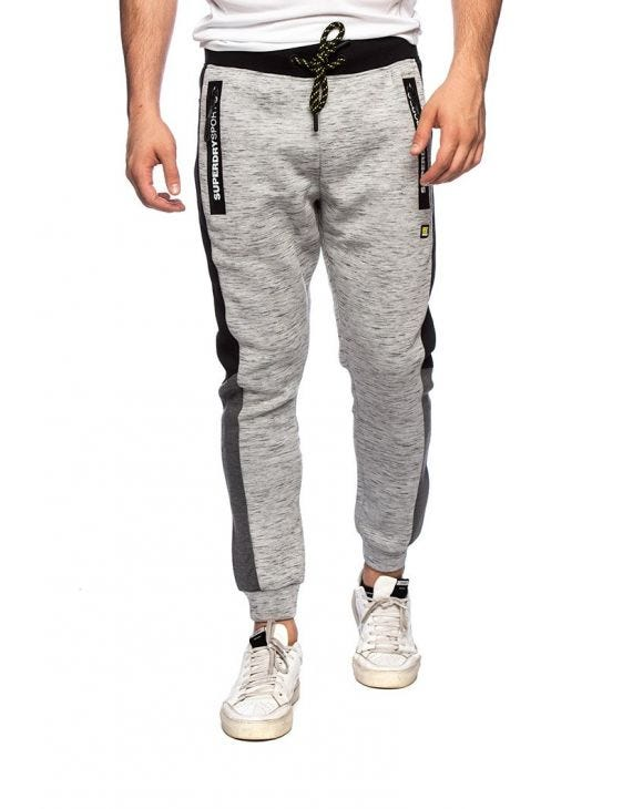 GYMTECH COLOURBLOCK JOGGER IN LIGHT GREY