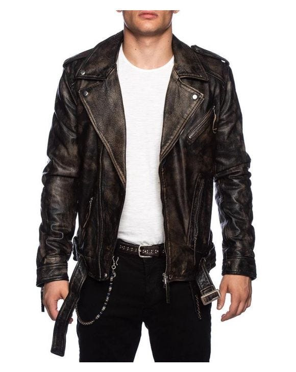 ALVARO LEATHER JACKET IN BROWN