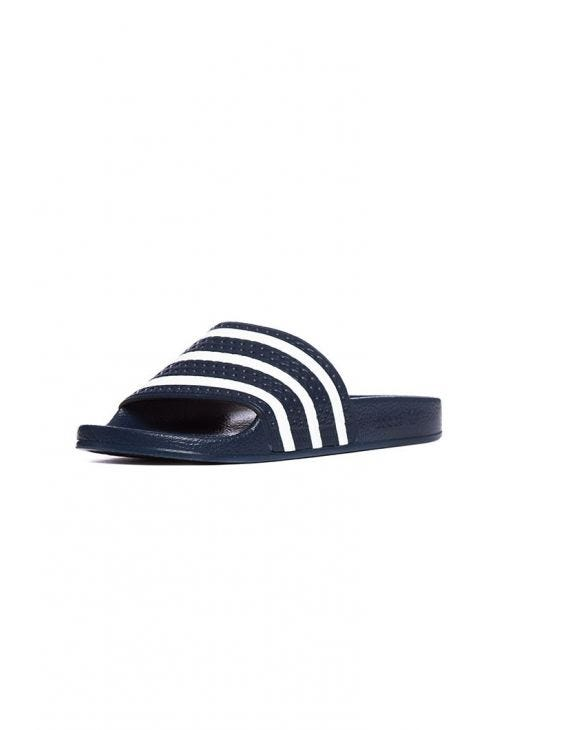 ADILETTE SANDALS IN BLUE AND WHITE