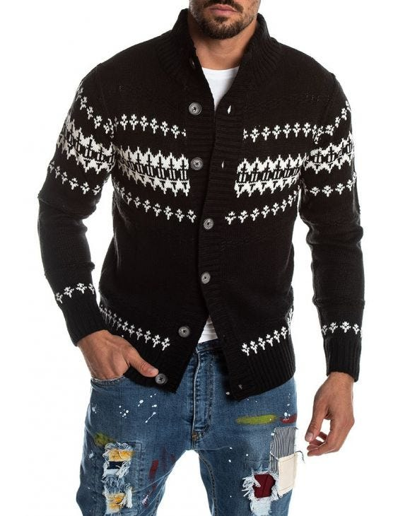ROMEO CARDIGAN IN BLACK