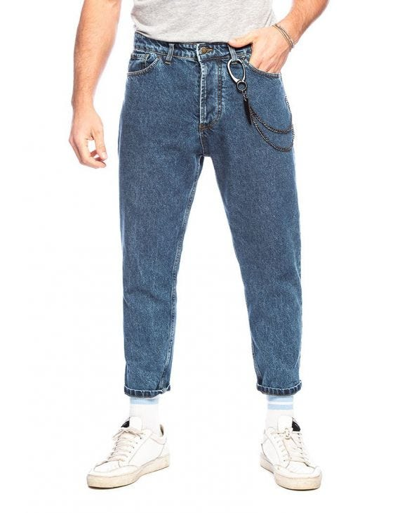 HECTOR STRAIGHT JEANS IN BLUE DENIM