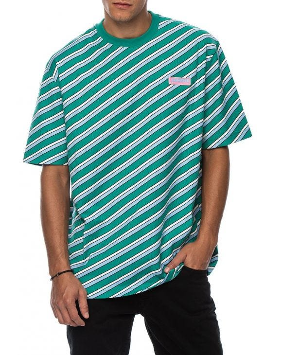 LACOSTE LIVE GESTREIFTES T-SHIRT IN MULTICOLOR