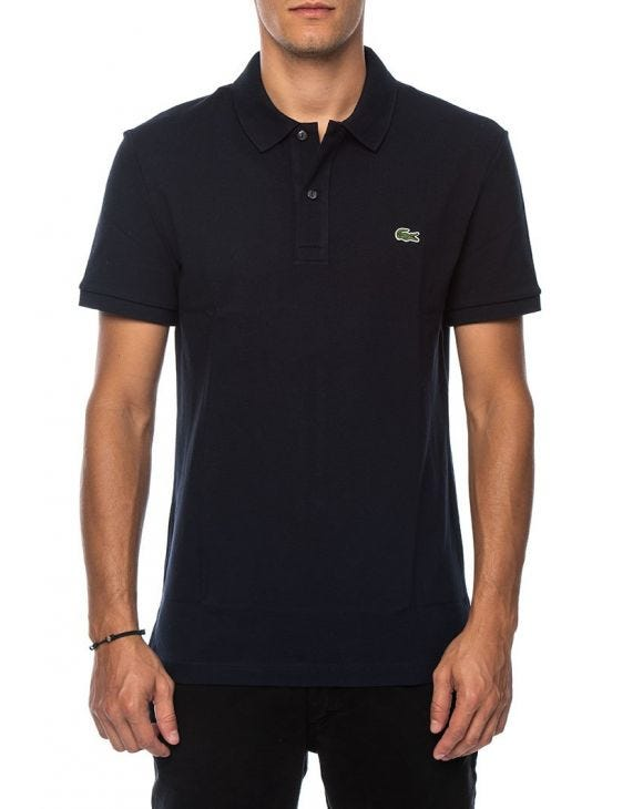 SHORT-SLEEVED POLO IN DARK BLUE