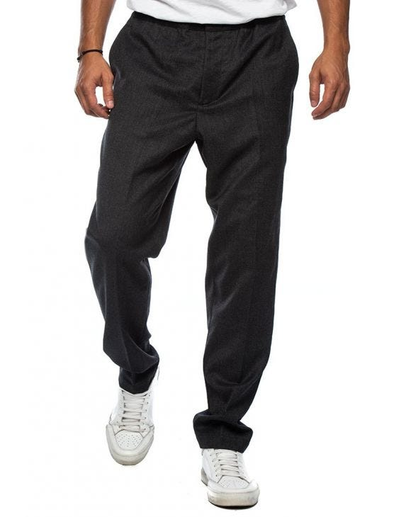 CASUAL PANTS IN DARK GREY MELANGE