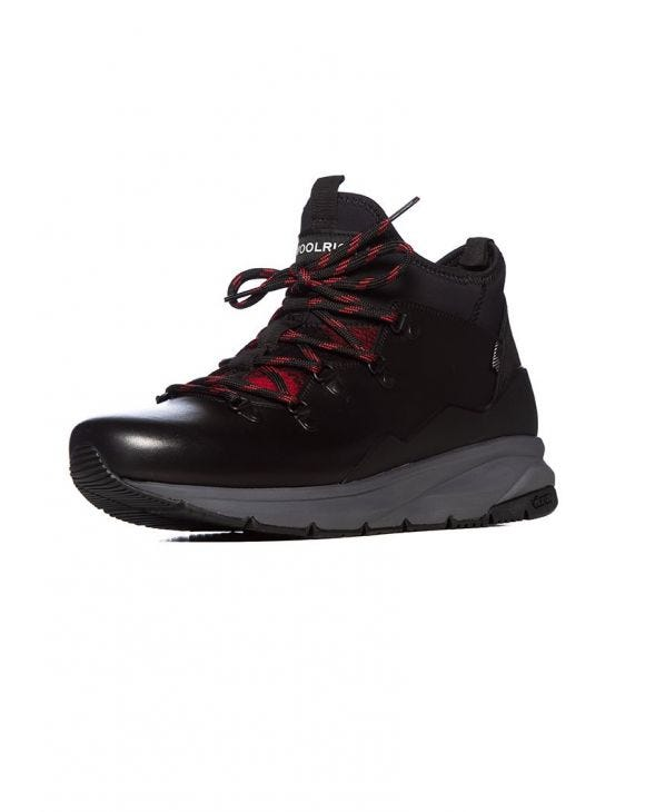 2 IN 1 WOOL CHECK HIKER IN BLACK RED BUFFALO