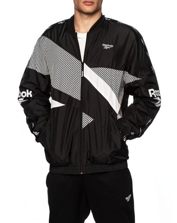 REEBOK CL V JACKET IN BLACK AND WHITE