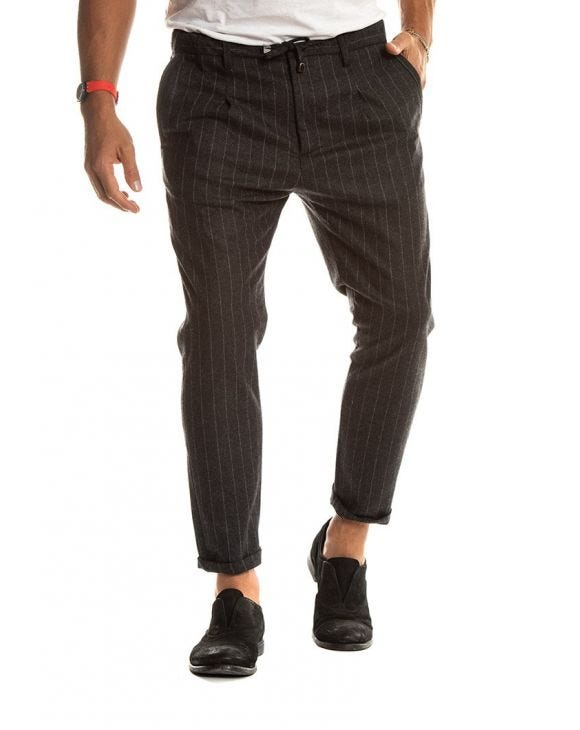 BARNEY PANTALONI IN ANTRACITE