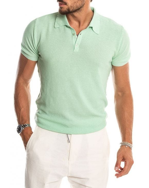 RIBES SHORT-SLEVEED POLO IN GREEN